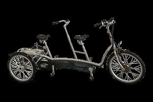 Three Wheel Tandem Companion Tricycle Twinny Plus Van Raam