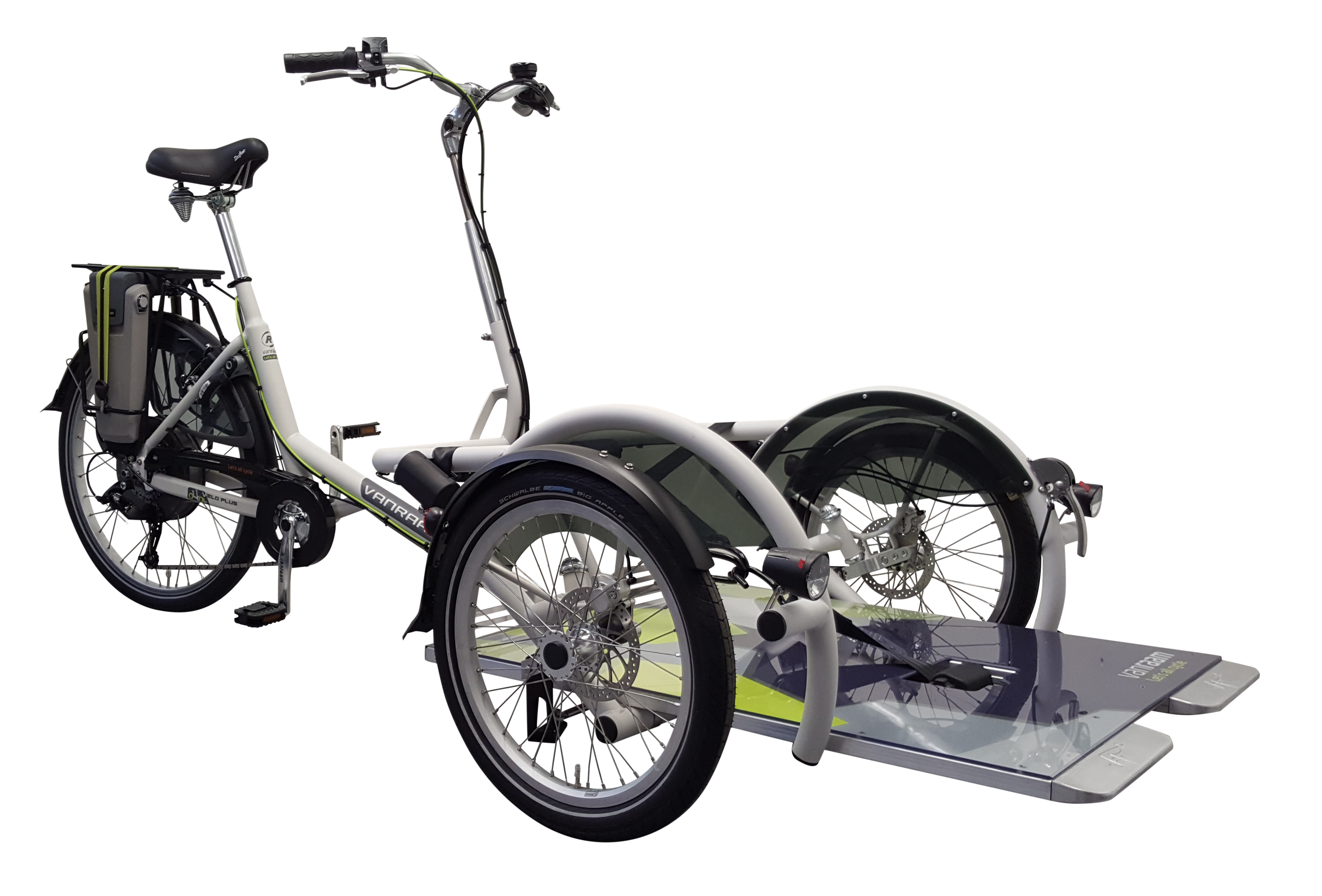 wheelchair transporter bike velo plus van raam. Black Bedroom Furniture Sets. Home Design Ideas